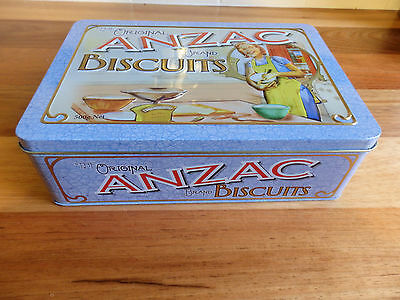"""Collectable Unibic Anzac biscuit tin .  """" Women at Home """"."""