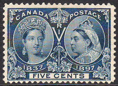 Canada 1897. QV Diamond Jubilee. 5c Blue. Mint. See Scan