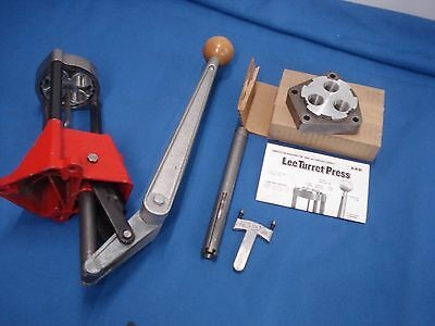 Lee Precision 4 Hole and 3 hole Turret Press with Auto Index, used