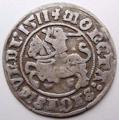 Medieval Hammered Silver Coin 1511 AD Shipwreck Baltic Sea Very Rare!
