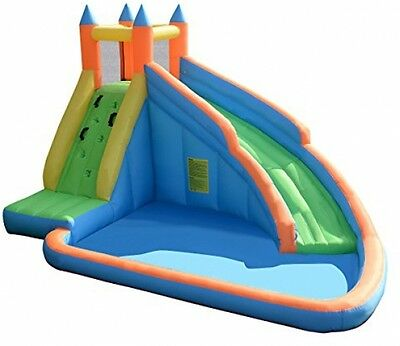 Costzon Inflatable Bouncy Castle Moonwalk Slide Bounce House Activity Center