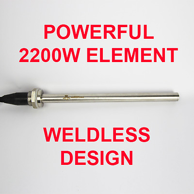 2200 Watt Stainless Steel Heating Element Home Brew Distillation Spirit Boiler !