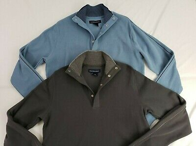 *NWT* Hathaway Men's Snap Ribbed Mock Neck Sweater/Pullover (Variety) (M,L,XL)