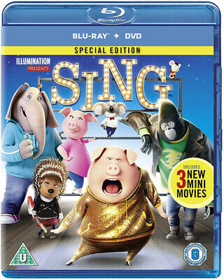 Sing Blu-Ray (2017) Garth Jennings cert U 2 discs Expertly Refurbished Product