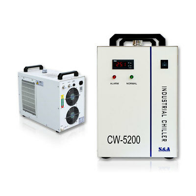 S&A 220V 60Hz CW-5200BH Water Chiller for 8KW Spindle / Welding / Laser tube USA