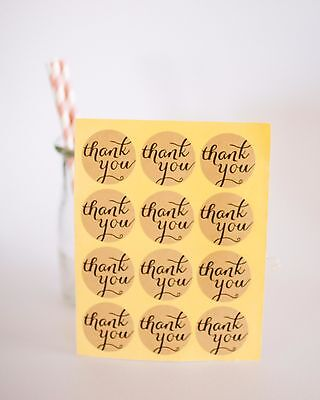 Thank you Stickers Kraft | Favours | Favor | Round Seal | Circle