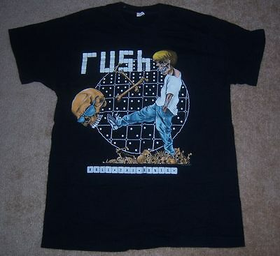 Vintage VERY RARE Authentic RUSH 1991 ROLL THE BONES Concert/Tour Shirt XL l