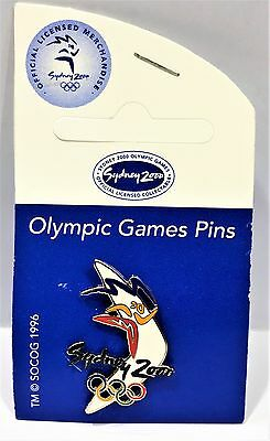 Coloured Boomerang Rings Sydney Olympic Games 2000 Pin Collect #929