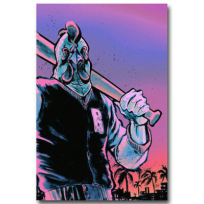 Hotline Miami Game Art Silk Poster Prints Home Wall Decor 12x18 24x36inch