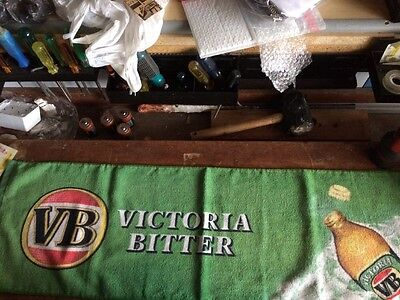 Victoria Bitter Bar Towel bar runner for collector Single Sided New