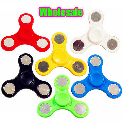 Lot 1/5/10/20X Children Hand Spinner Tri Finger Fidget Gyro Steel Ball Toy Gift