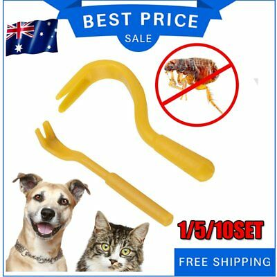 New Pack x 2 Sizes Tick Remover Hook Tool Human Dog Pet Horse Cat Animal
