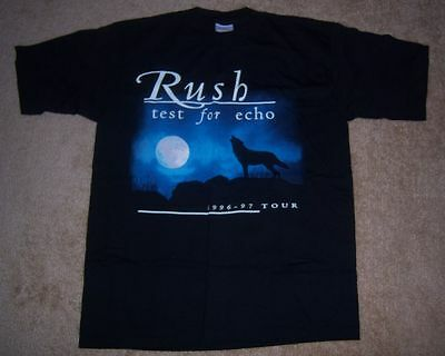 NEW Vintage VERY RARE Authentic RUSH 1996 TEST FOR ECHO Concert/Tour Shirt L