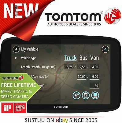 TomTom GO Professional 6250 Trucker Truck Bus Van Car GPS SatNav Lifetime Update