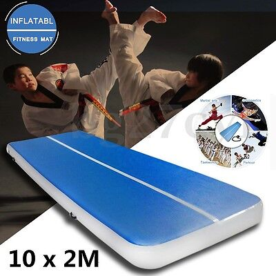 10mx2m Inflatable Gym Mat Air Tumbling Track Gymnastics Cheerleading Floor +Pump