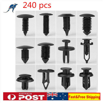 240pcs Car Mixed Universal Door Trim Panel Clip Fasteners Auto Bumper Rivet Kit