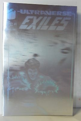 Ultraverse EXILES #1 Silver Holographic Malibu1993 Excellent Condition New