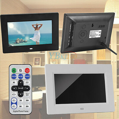 """7"""" TFT Digital Video Music Playing Picture/Photo Frame Clock Remote Control CO"""