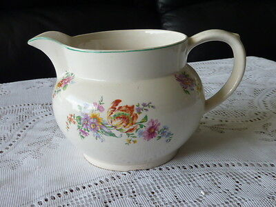 Bcm Nelson Ware England Floral Milk Jug Pitcher A/f 1872