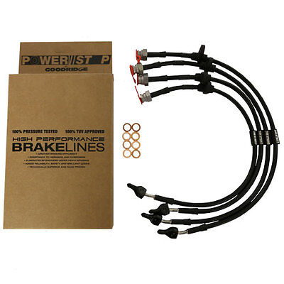 Time Attack® PowerStop by Goodridge Braided Brake Lines- VAUXHALL ASTRA H VXR