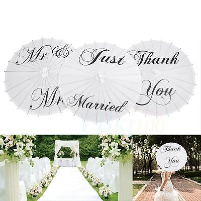 3Type Beautiful White Paper Umbrella Wedding Party Birthday Decor Art Display AF
