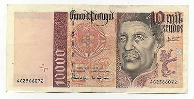 Portugal 10000 Escudos 1996 Pick 191 B Look Scans