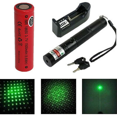 Powerful 1mw 303 Green Pointer Laser Pen Adjustable Focus 532nm UK Stock