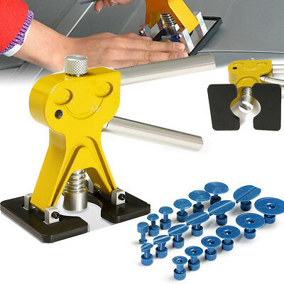 PDR Lifter Glue Puller + 18 Tabs Hail Removal Paintless Car Dent Repair Tool Kit