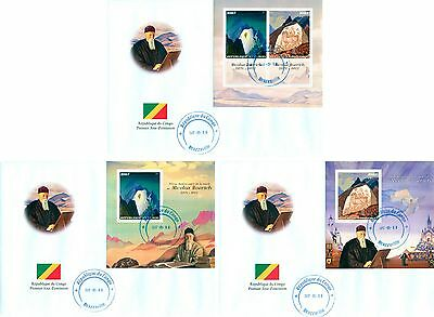 Nicolas Roerich Russia Art India Hymalai Congo FDC first day cover set