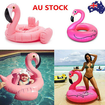 Inflatable Giant Flamingo Beach Pool Float Swim Ring Raft Swimming Water Fun Kid