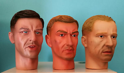 Dragon 1:6 ACTION FIGURE HEAD 3 piece set Scale LOT 8 SCALE 1:6
