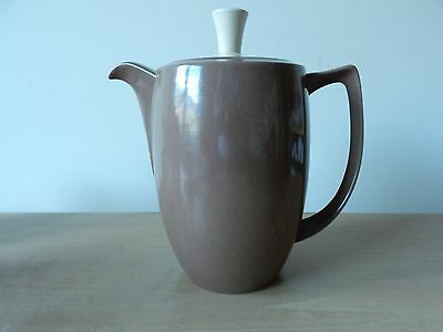 Vintage Branksome China Large Art Deco Style Brown and Cream Coffee Pot