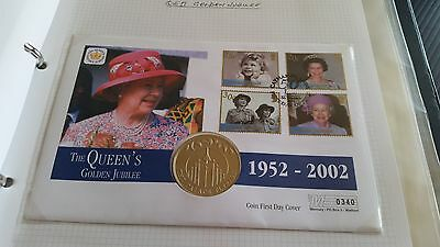 Cayman Islands 2002 Sg 975-978  Golden Jubilee Coin First Day Cover