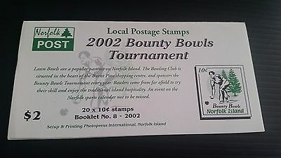 Norfolk Island 2002 Sb17 Bowls Tournament Booklet Mnh