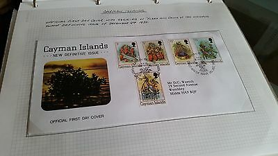 Cayman Islands 1980 Sg 515-519 Flora And Fauna First Day Cover