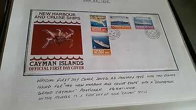 Cayman Islands 1978 Sg 441-444 New Harbour And Cruise Ships  First Day Cover