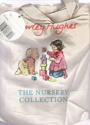 SHIRLEY HUGHES NURSERY COLLECTION Canvas Book Bag plus label Childrens Storage