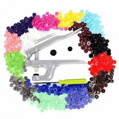 150pcs/Set KAM Snaps T5 & T8 Press Poppers Resin Snaps Fasteners With Pliers UK