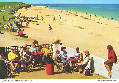 Old postcard :Shell Beach, Herm Island, CI, lovely and peaceful with golden sand