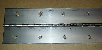 .062 Stainless Steel Continuous Piano Hinge 36 x 3 HOLE Cabinet/Door/Boat/Car