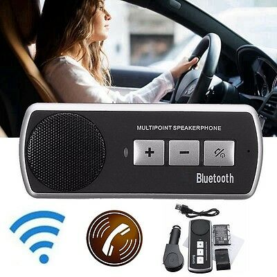 Car Speakerphone Bluetooth USB Multipoint Speaker for Cell Phone Hand free Kit