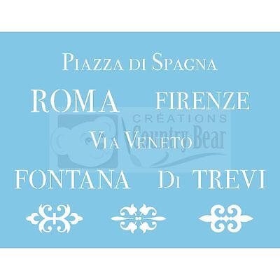 Stencil - Italian Places (set of 3) - ST-213 - Tracy Moreau