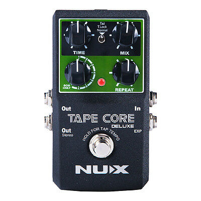 NUX Tape Core Deluxe Tape Echo Effects Guitar Effect Pedal Tone-Lock True Bypass