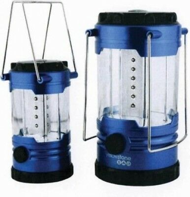 Yellowstone LED Camping Lantern Set for Families | Metallic Blue 2 Pack