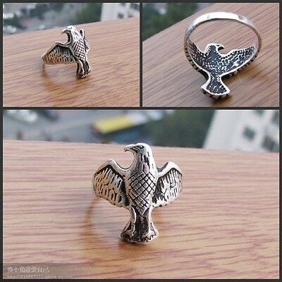 Rare Tibet Ethnic Tribal Eagle Ring Free Shipping O5Mf