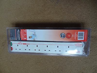 Masterplug  2 m 13 A 6-Gang Surge Protected Extension Lead with surge & power