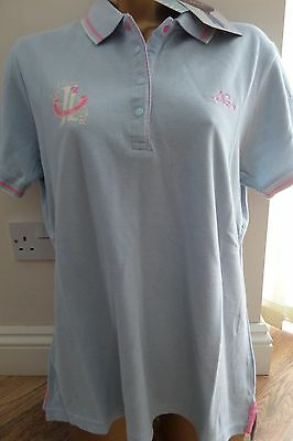 Musto Ladies Quality Blue Polo Shirt Size 14 - Brand New! Bargain!