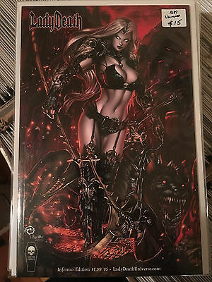 LADY DEATH CHAOS RULES #1 NM 1st Print INFERMO EDITION VARIANT Coffin Comics