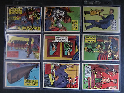 1957 complete card set of isolation booth 88 card set