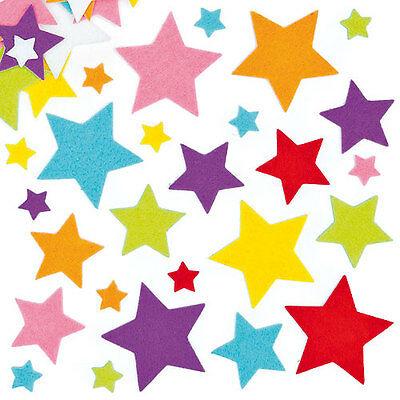 Felt Star Stickers for Children for Decorating Cards and Collage(Pack of 144)
